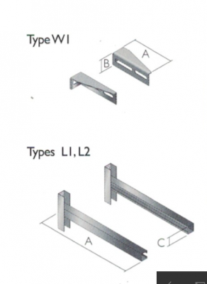 Adjustable Wall Support 100 350mm Stand Off 6 Inch
